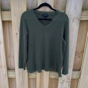 Lane Bryant Green V-Neck Sweater 18/20